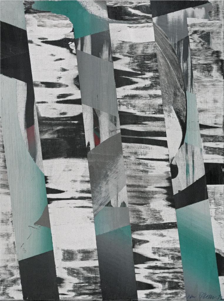 Bei den Birken, Acryl auf Leinwand, 80 x 60 cm, 2012