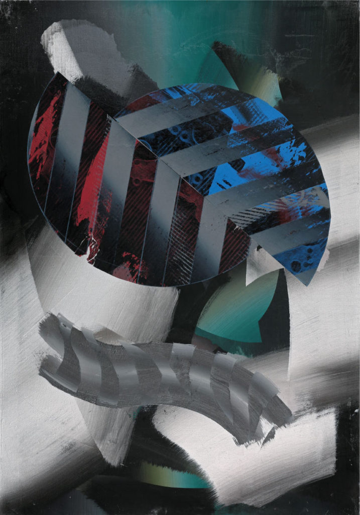 Larve, Acryl auf Leinwand, 100 x 70cm, 2014/2015