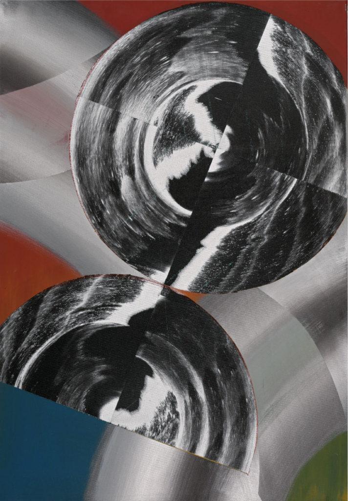 Zurück, Acryl auf Leinwand, 80 x 60 cm, 2015