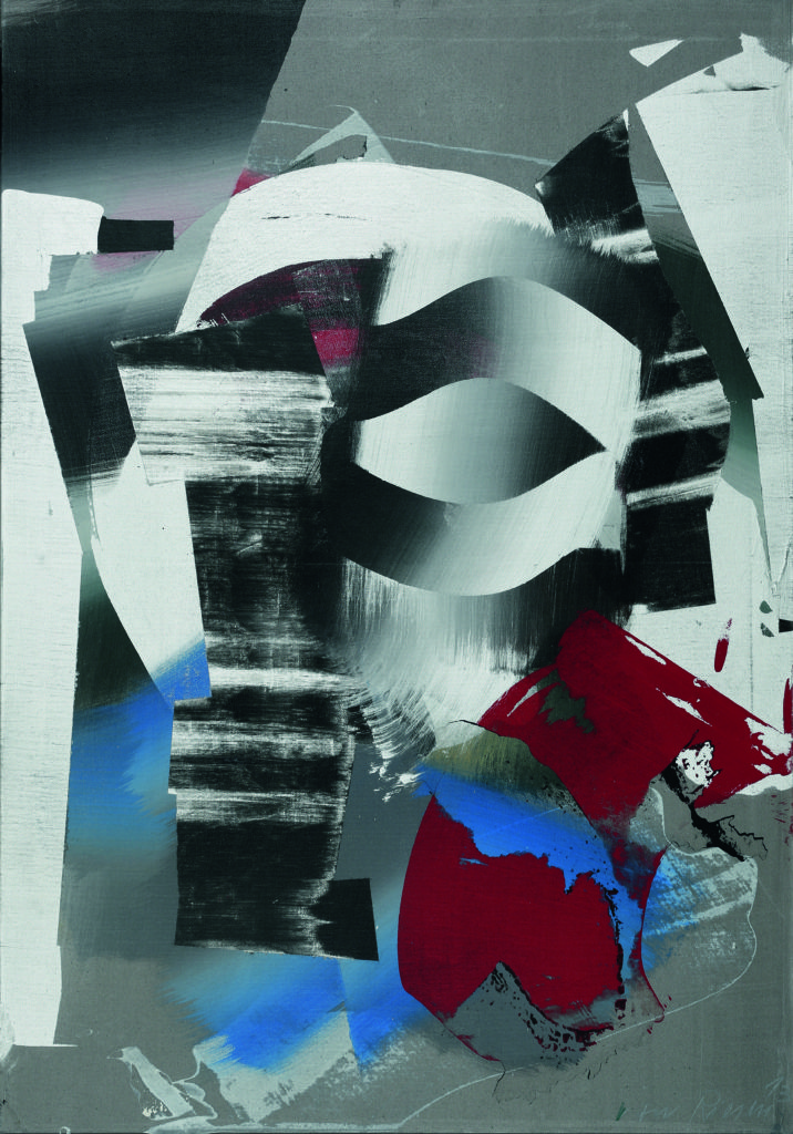 Maske, Acryl auf Leinwand, 100 x 70, 2013