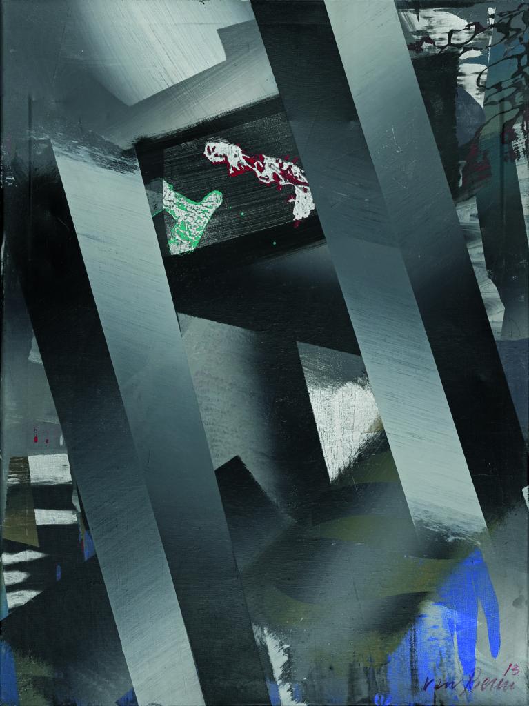 In Etage 4, Acryl auf Leinwand, 80 x 60cm, 2013